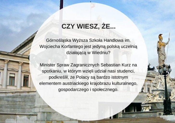 Studiuj po polsku na Wydziale Zamiejscowym GWSH w Wiedniu